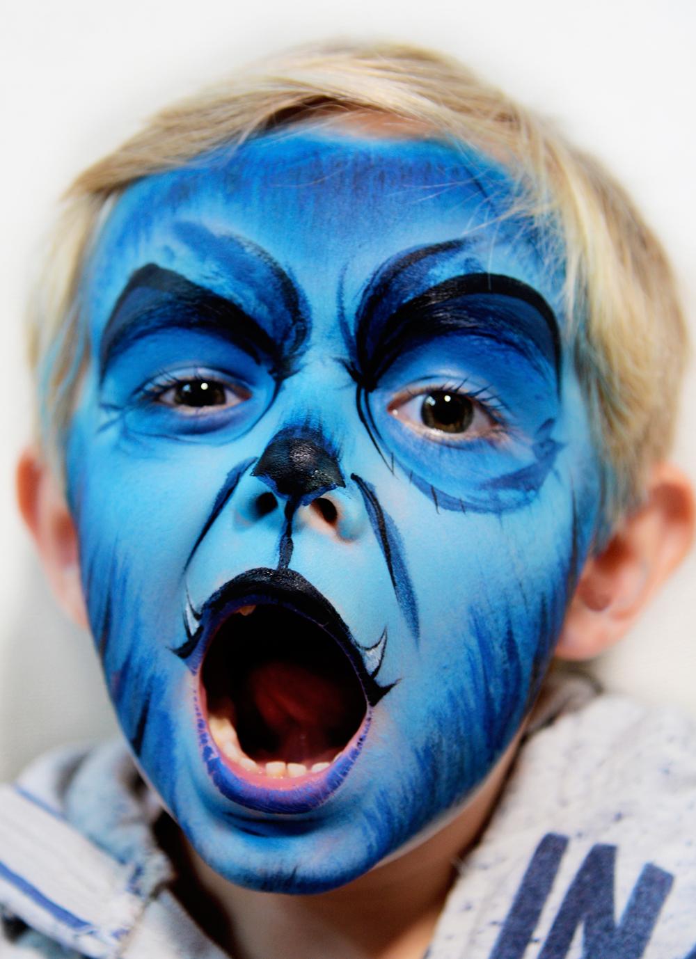 grimage loup garou bleu